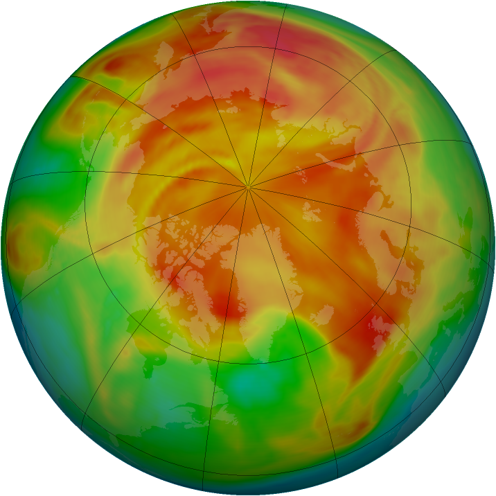 Arctic ozone map for 03 April 2006