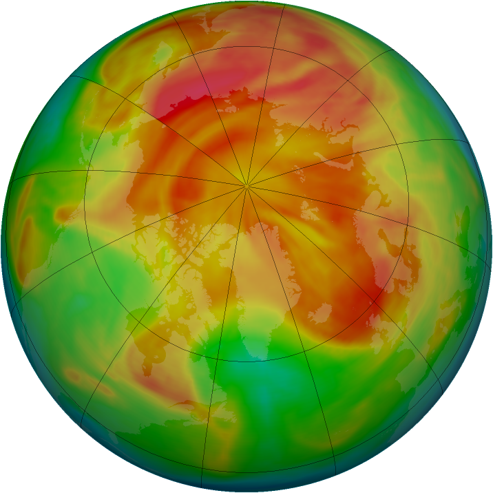 Arctic ozone map for 07 April 2006