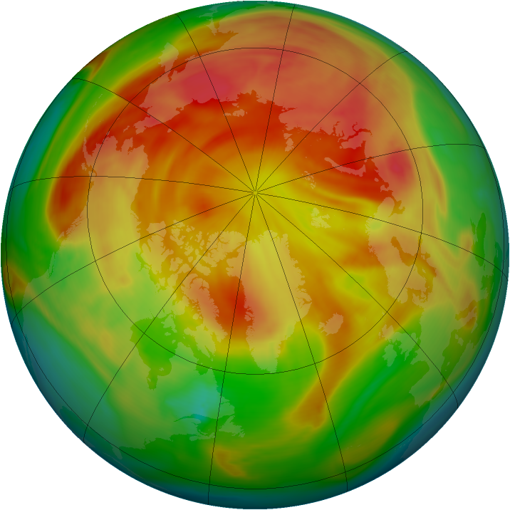 Arctic ozone map for 13 April 2006