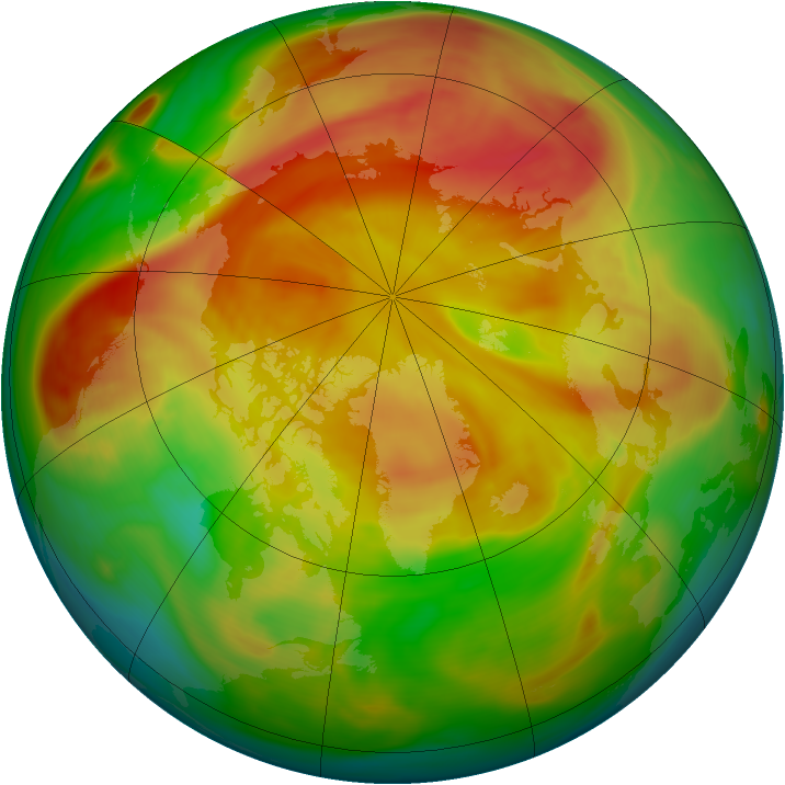 Arctic ozone map for 15 April 2006