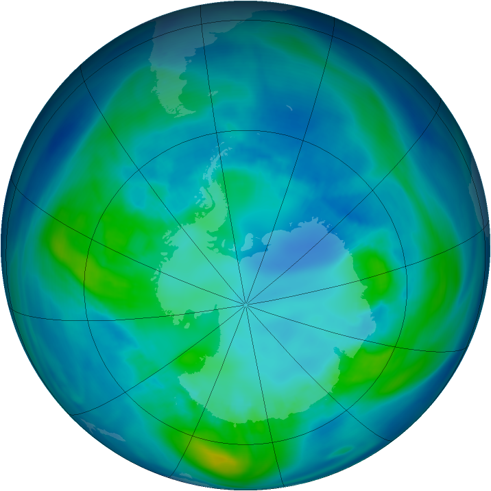 Antarctic ozone map for 19 April 2006