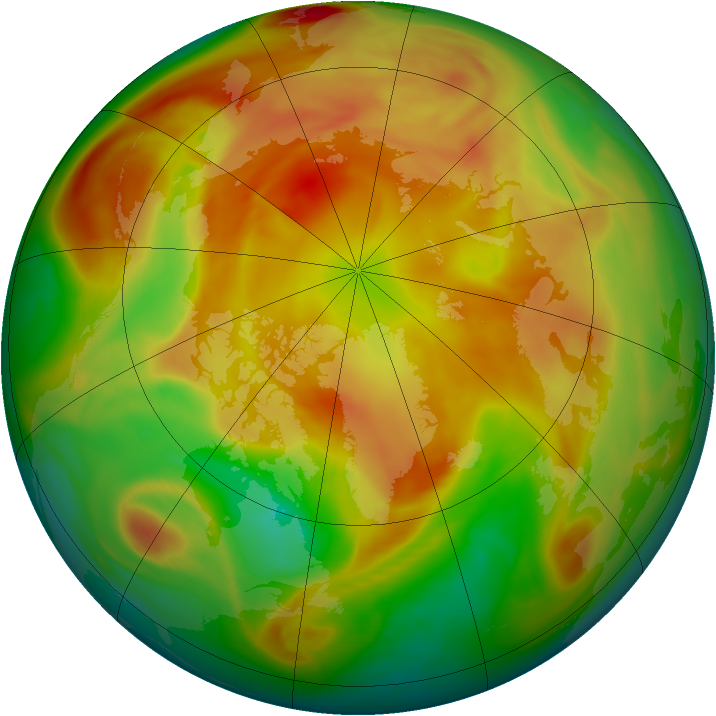 Arctic ozone map for 21 April 2006