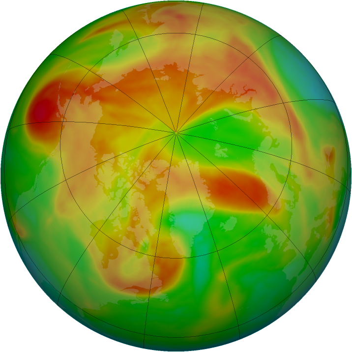 Arctic ozone map for 27 April 2006