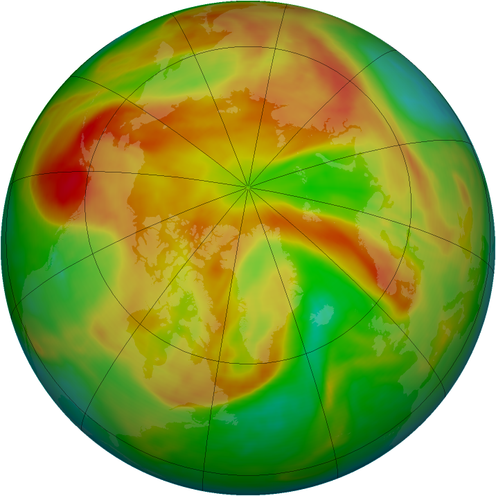 Arctic ozone map for 28 April 2006