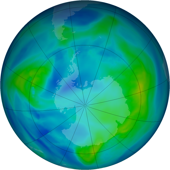 Antarctic ozone map for 28 April 2006
