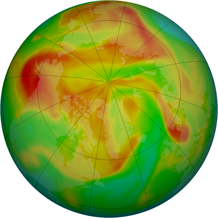 Arctic ozone map for 29 April 2006