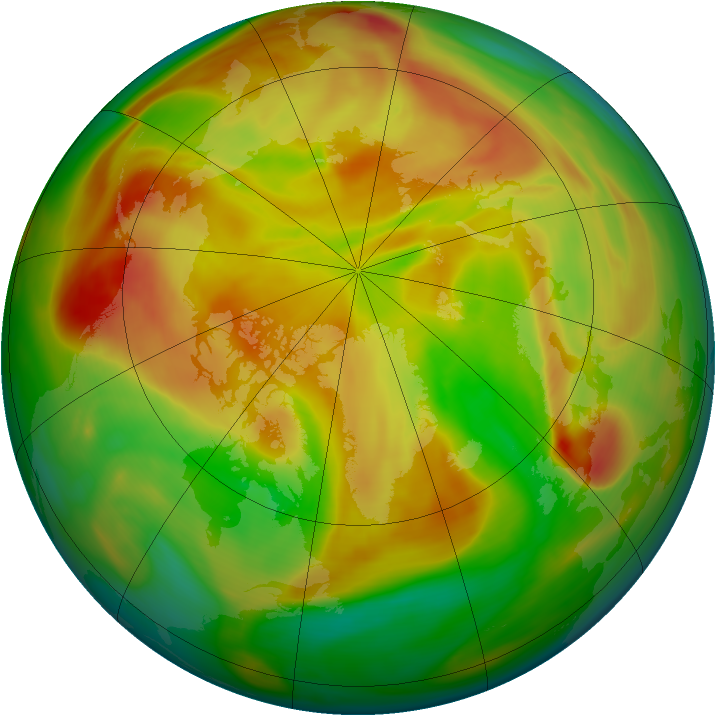 Arctic ozone map for 30 April 2006