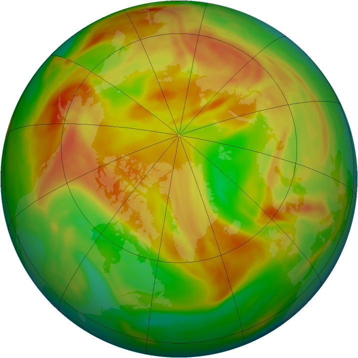 Arctic ozone map for 01 May 2006