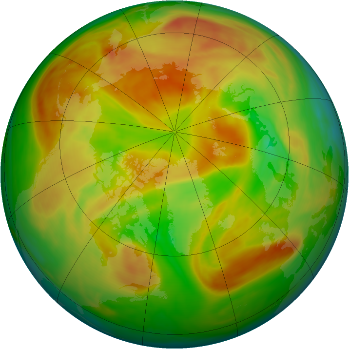 Arctic ozone map for 08 May 2006