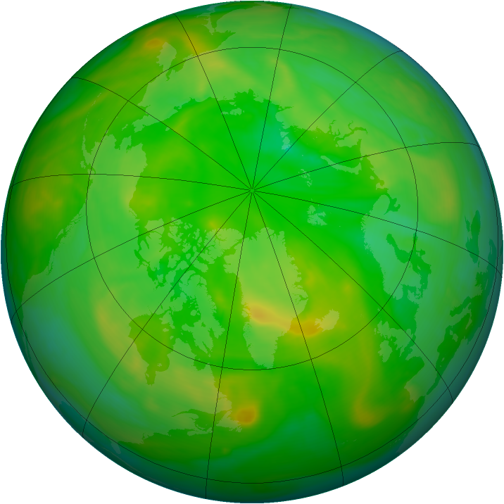 Arctic ozone map for 02 July 2006