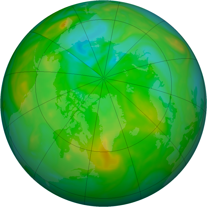 Arctic ozone map for 13 July 2006
