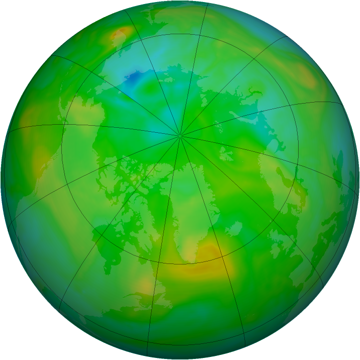 Arctic ozone map for 14 July 2006