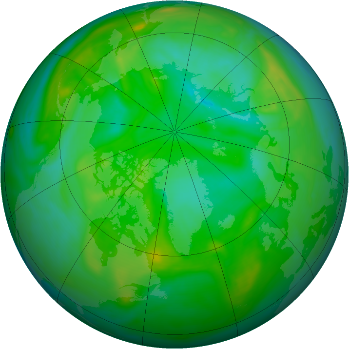 Arctic ozone map for 24 July 2006