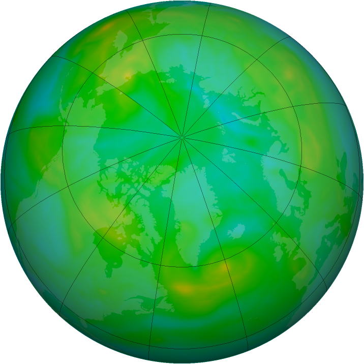 Arctic ozone map for 27 July 2006