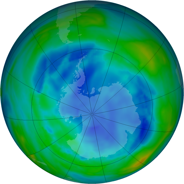 Antarctic ozone map for 10 August 2006