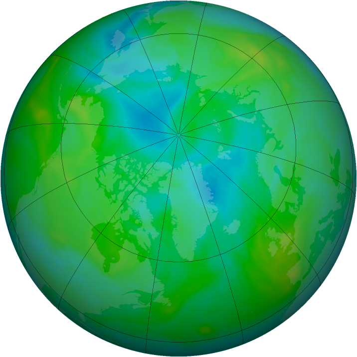 Arctic ozone map for 18 August 2006