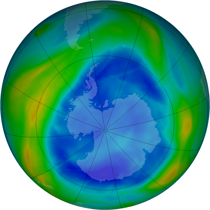 Antarctic ozone map for 22 August 2006