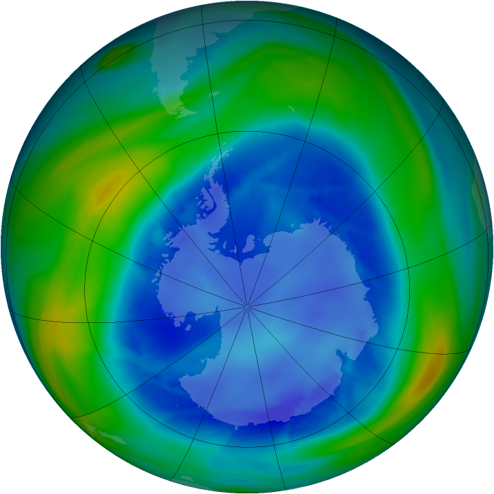 Antarctic ozone map for 23 August 2006