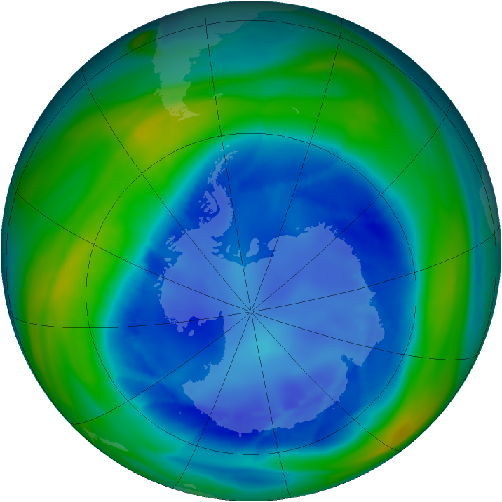 Antarctic ozone map for 24 August 2006