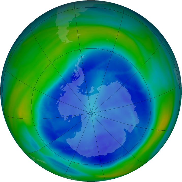 Antarctic ozone map for 25 August 2006