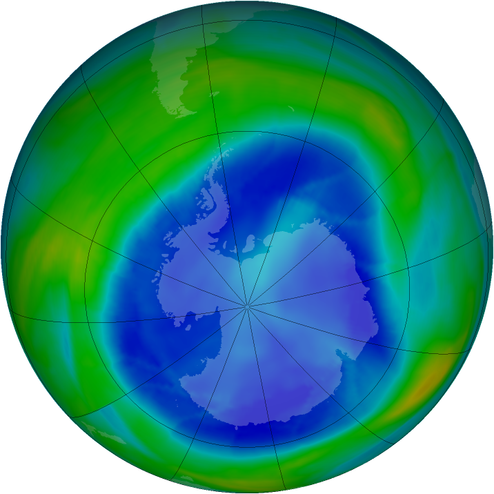 Antarctic ozone map for 26 August 2006