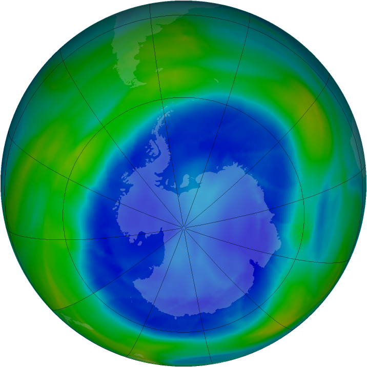 Antarctic ozone map for 27 August 2006