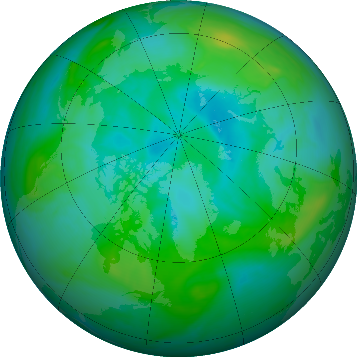 Arctic ozone map for 29 August 2006