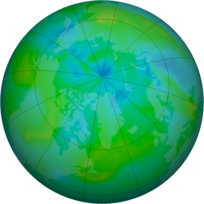 Arctic ozone map for 01 September 2006