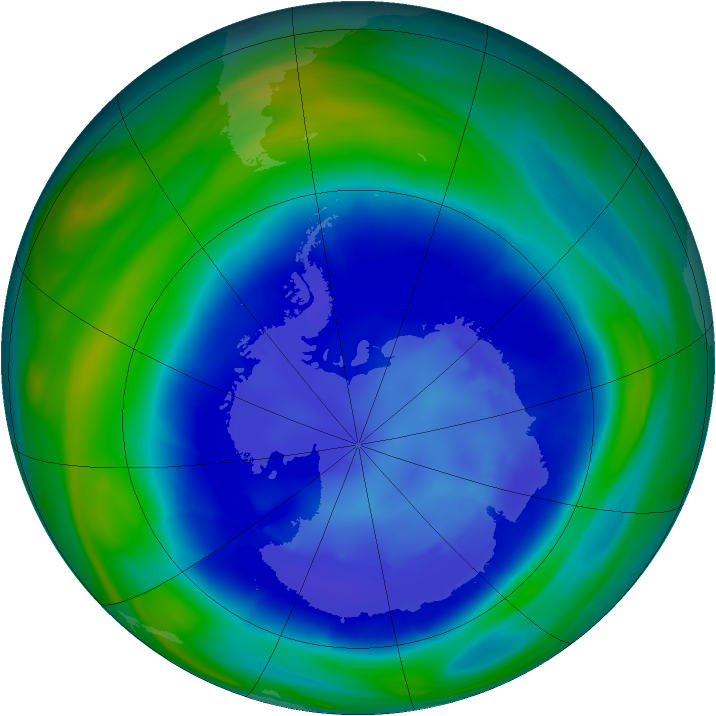 Antarctic ozone map for 02 September 2006