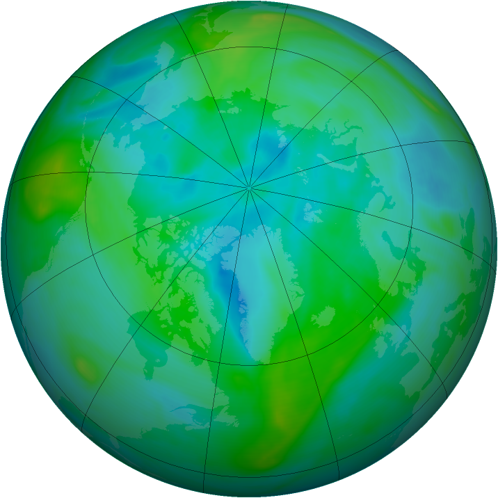 Arctic ozone map for 03 September 2006