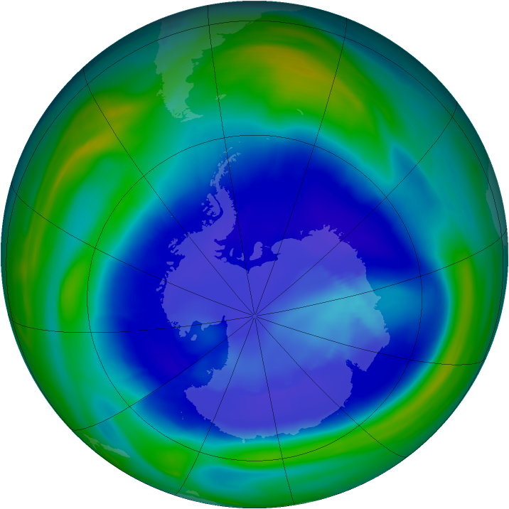 Antarctic ozone map for 05 September 2006