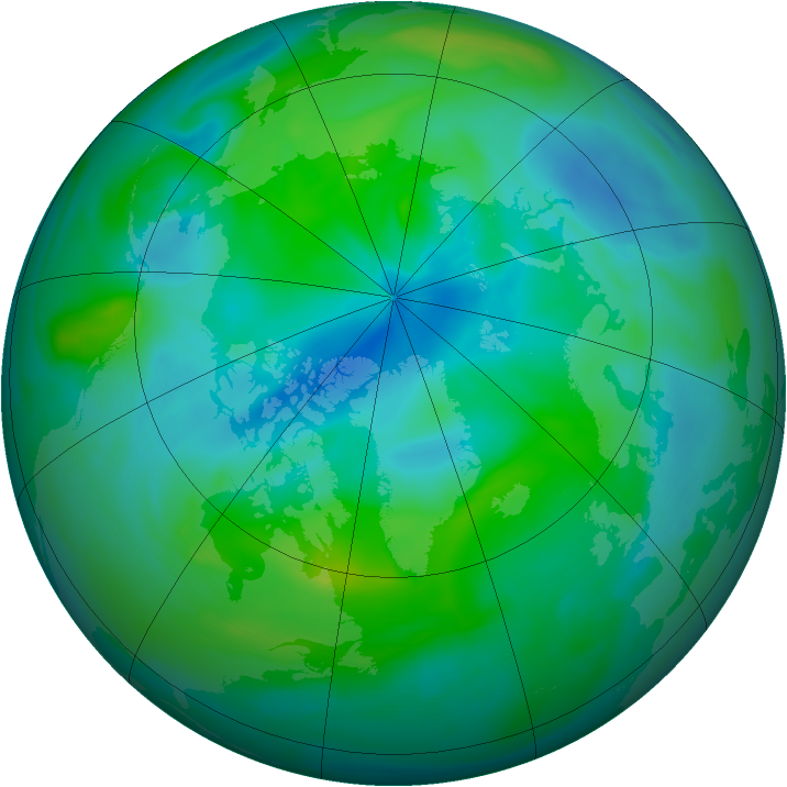 Arctic ozone map for 07 September 2006