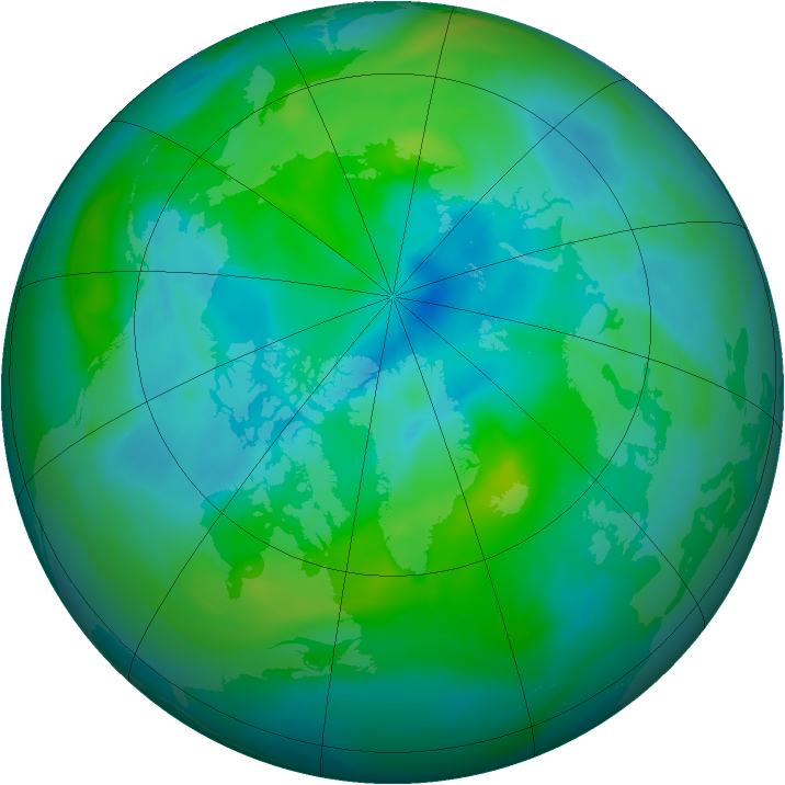 Arctic ozone map for 09 September 2006