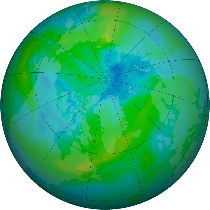 Arctic ozone map for 10 September 2006