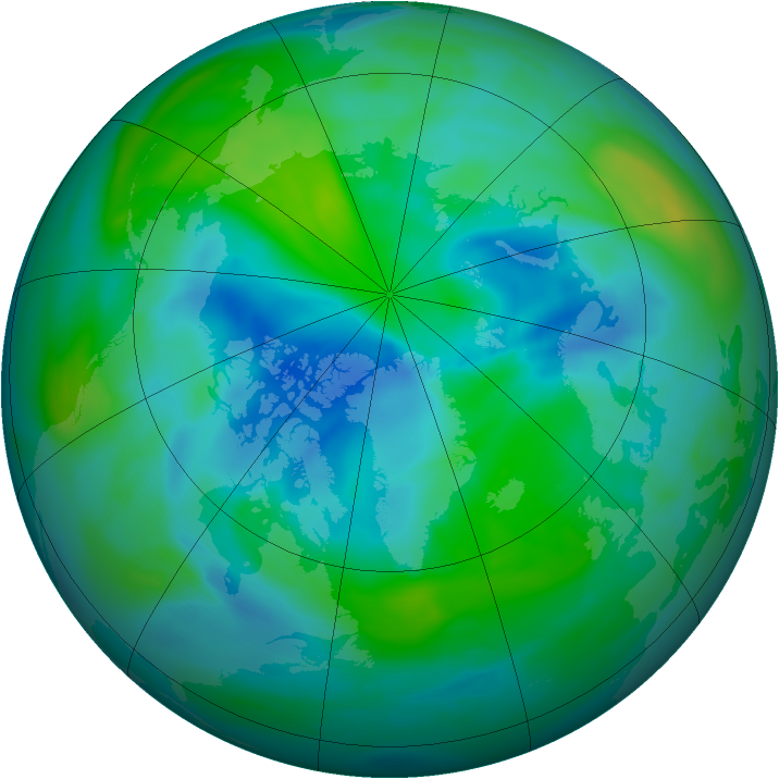 Arctic ozone map for 18 September 2006