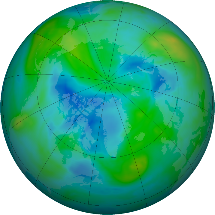 Arctic ozone map for 19 September 2006