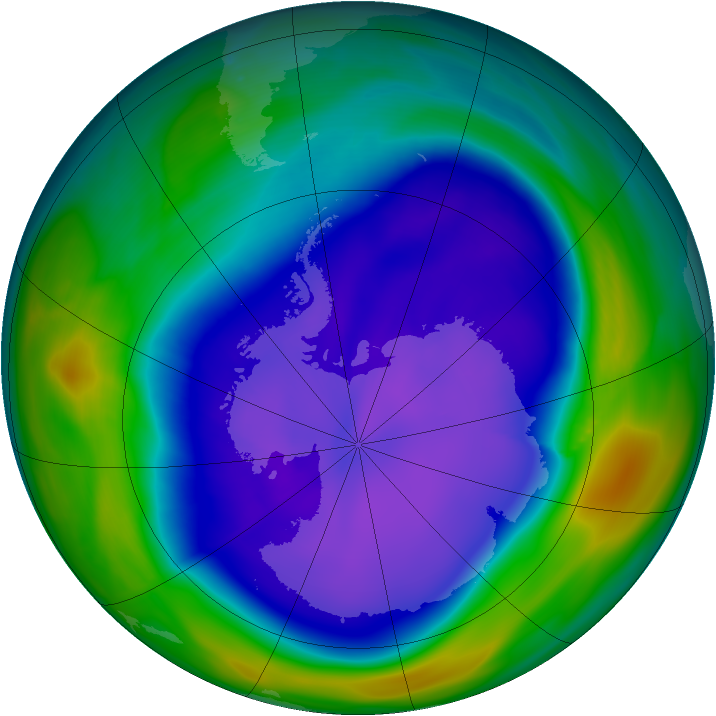Antarctic ozone map for 21 September 2006