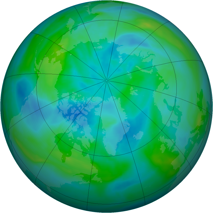 Arctic ozone map for 23 September 2006