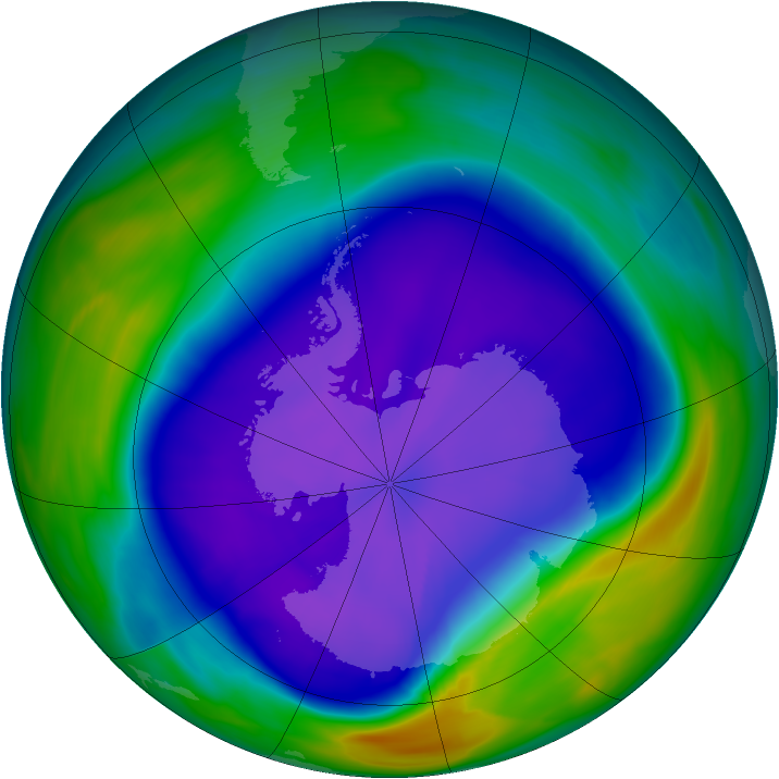 Antarctic ozone map for 23 September 2006