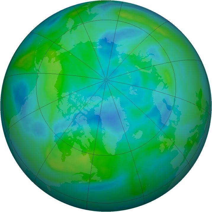 Arctic ozone map for 25 September 2006