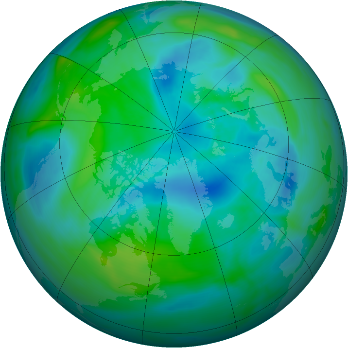 Arctic ozone map for 26 September 2006