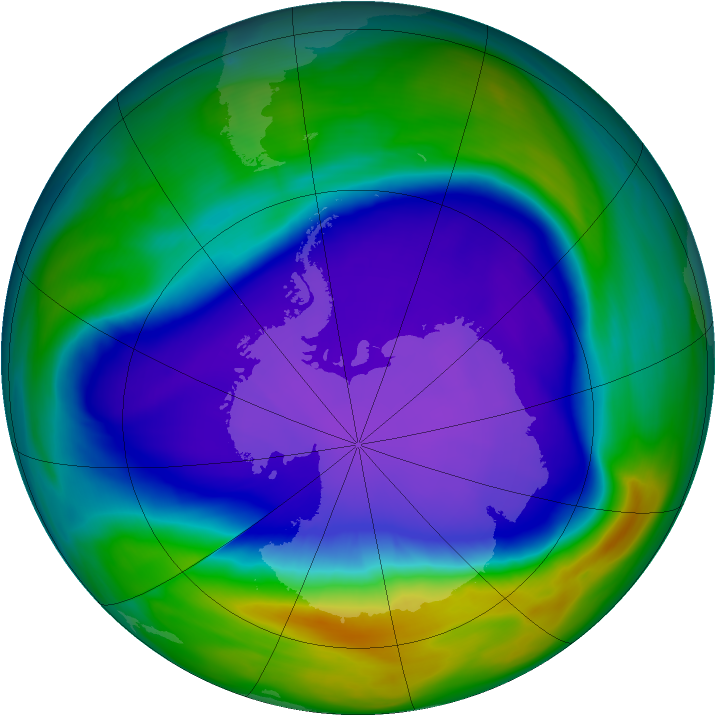 Antarctic ozone map for 26 September 2006