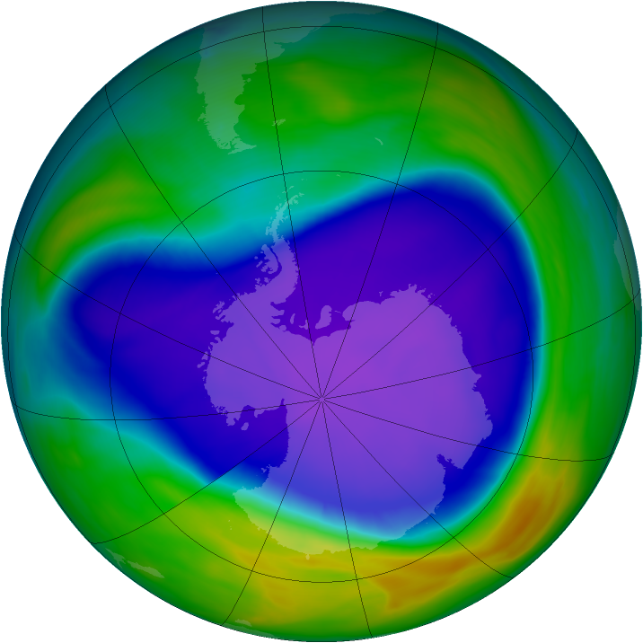 Antarctic ozone map for 27 September 2006