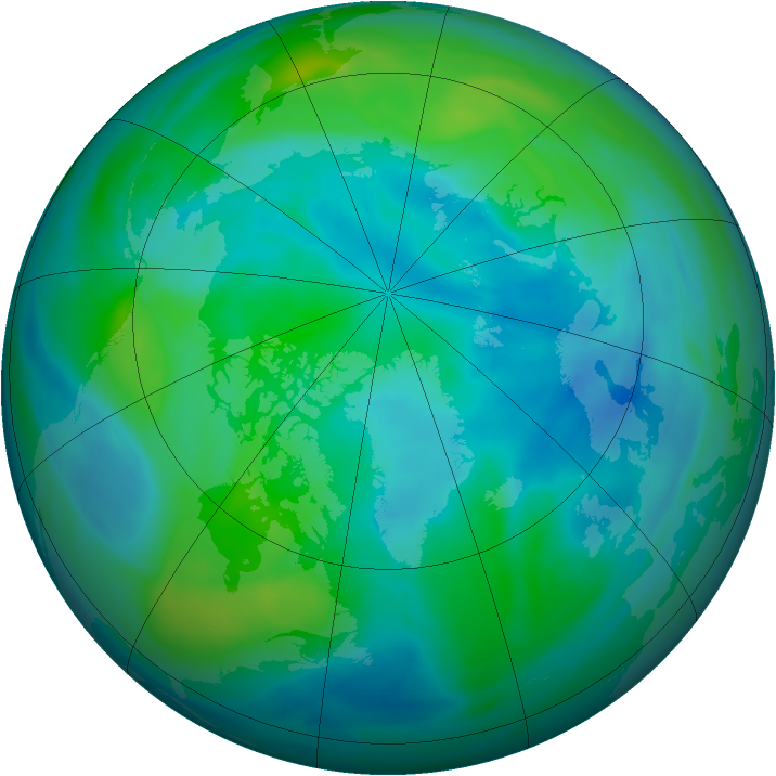 Arctic ozone map for 30 September 2006