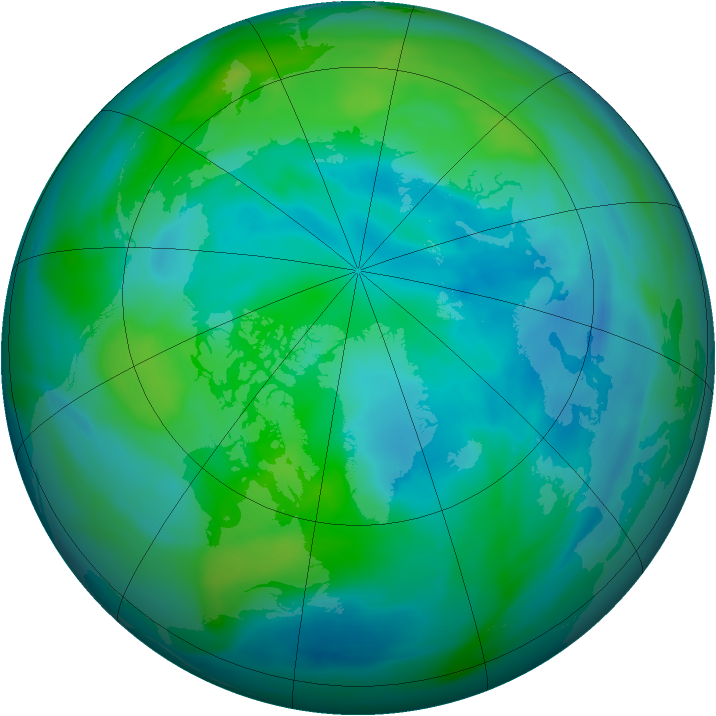 Arctic ozone map for 01 October 2006