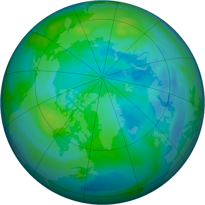 Arctic ozone map for 02 October 2006