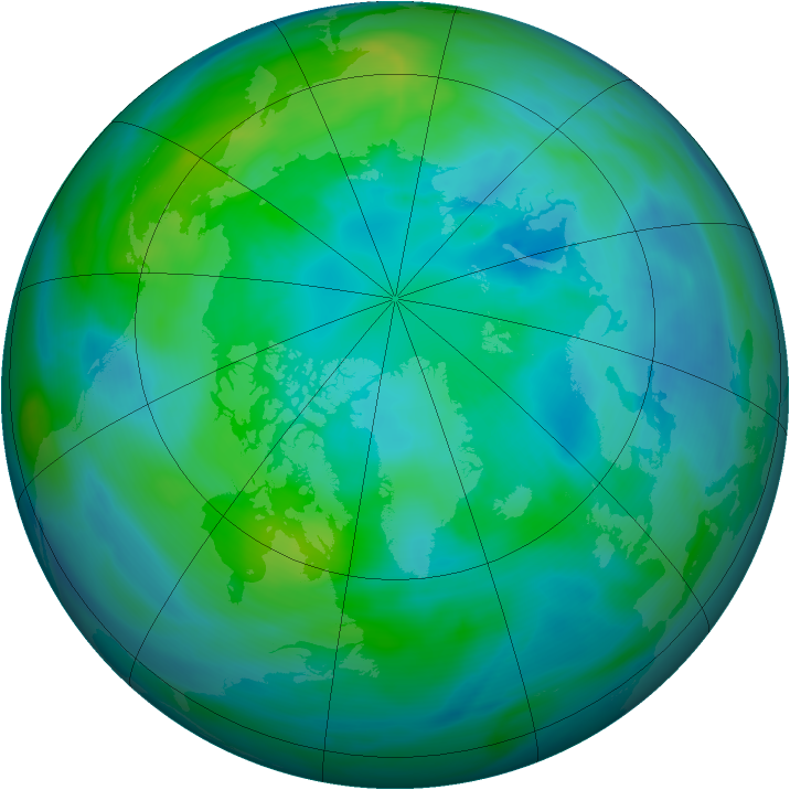 Arctic ozone map for 04 October 2006