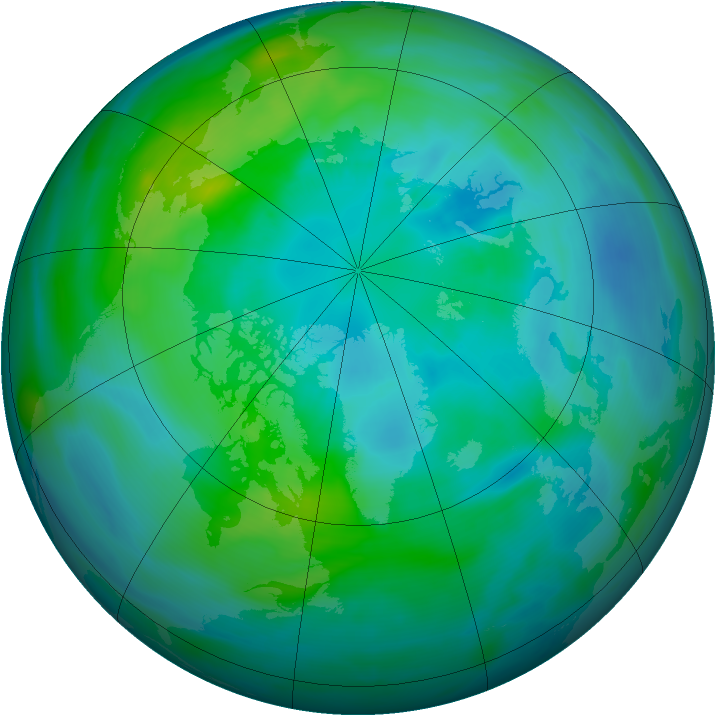 Arctic ozone map for 05 October 2006