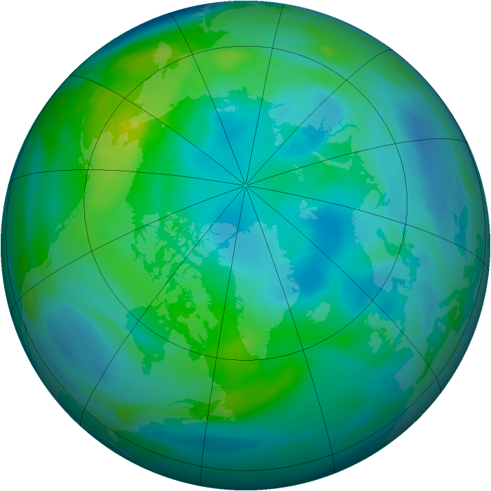 Arctic ozone map for 06 October 2006