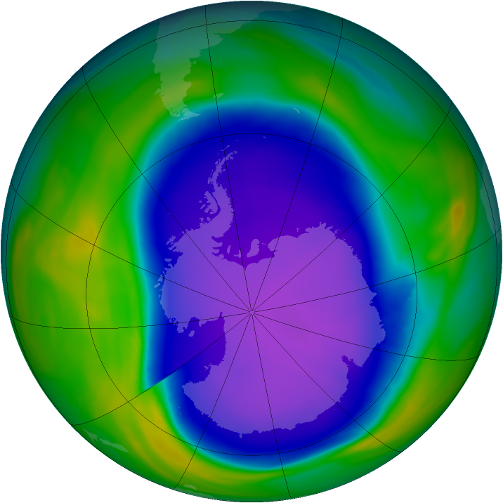Antarctic ozone map for 08 October 2006